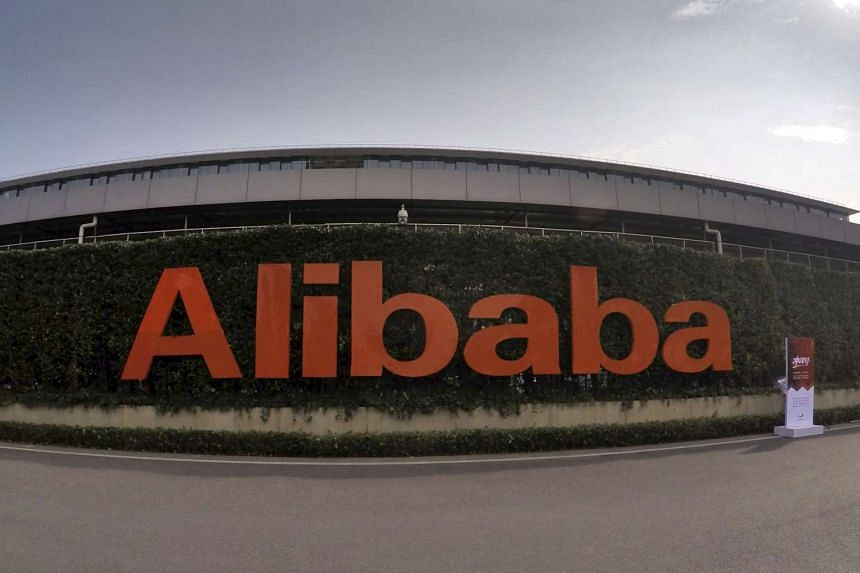 A logo of Alibaba Group is pictured at its headquarters in Hangzhou, Zhejiang province, China, on Oct 14, 2015.