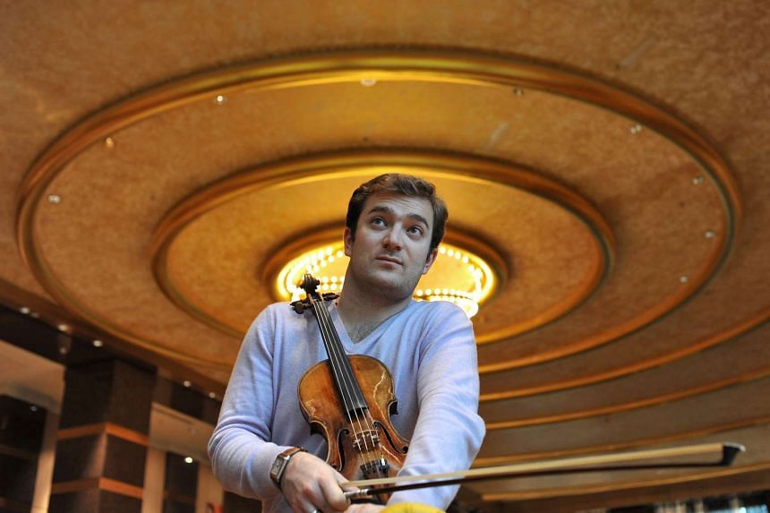 Violinist Renaud Capucon was concerto soloist with the Singapore Symphony Orchestra last week.