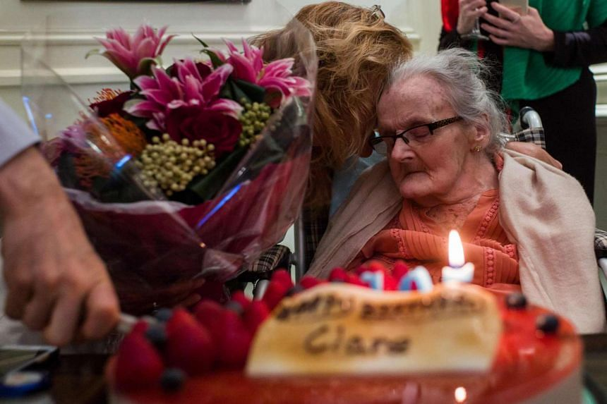 British war correspondent Clare Hollingworth attending a celebration to mark her 105th birthday at the Foreign Correspondent's Club in Hong Kong on Oct 10, 2016.