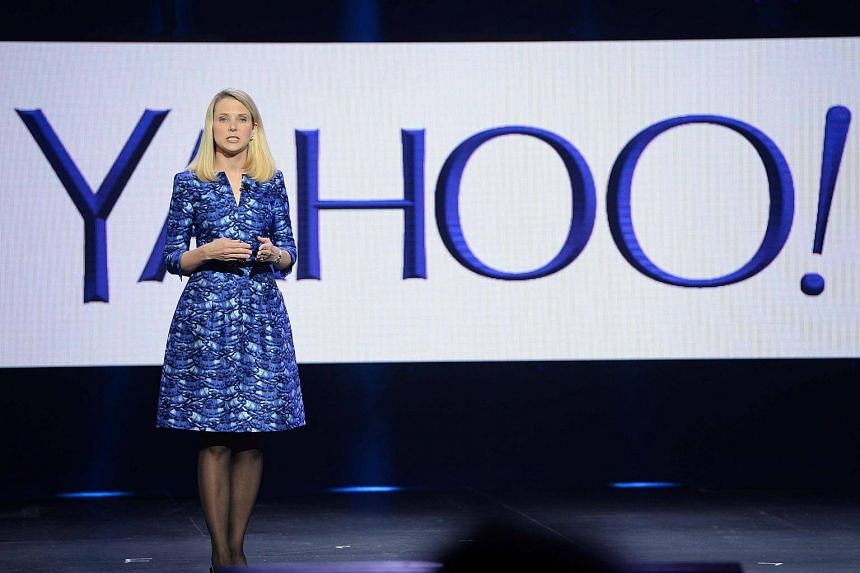 Yahoo CEO Marissa Mayer speaking during her keynote address at the 2014 International CES in Las Vegas.