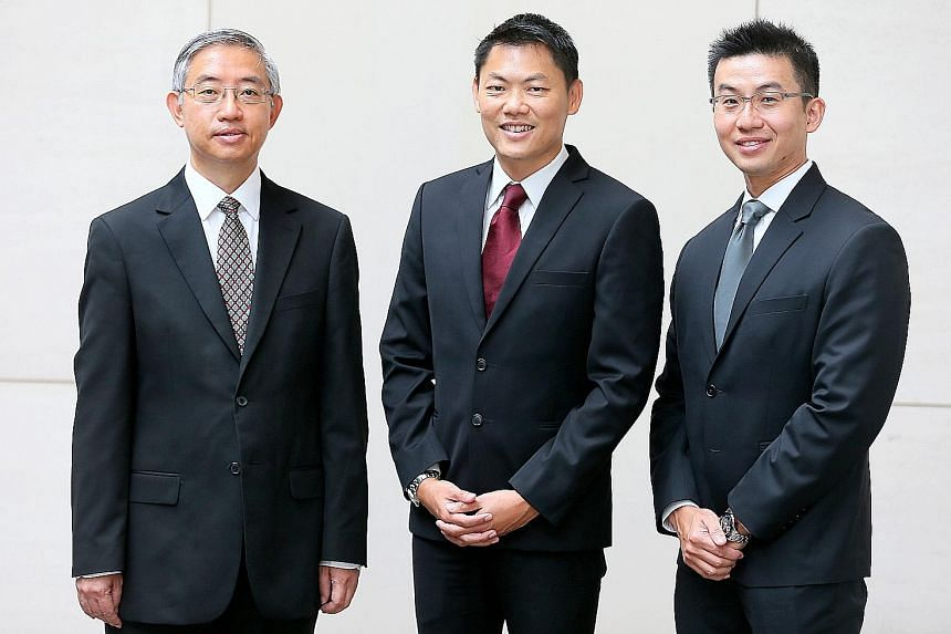 (From left) Mr Edmund Leow Hock Meng, Mr Kwek Mean Luck and Mr Francis Ng Yong Kiat were appointed senior counsel yesterday.