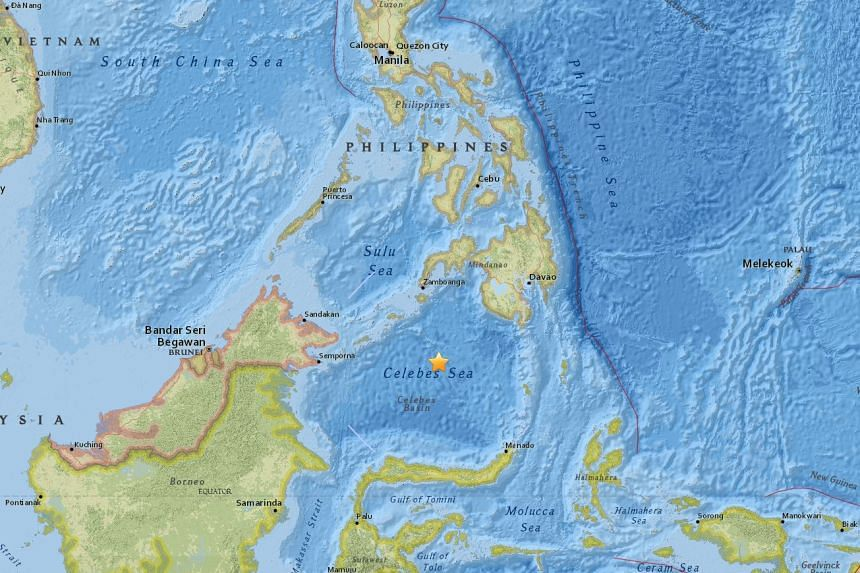 An undersea earthquake of magnitude 7.3 struck south-east of the Philippines on Jan 10, 2017.