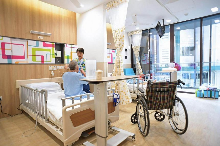 A double ward at the new building of Assisi Hospice, on Jan 10, 2017.