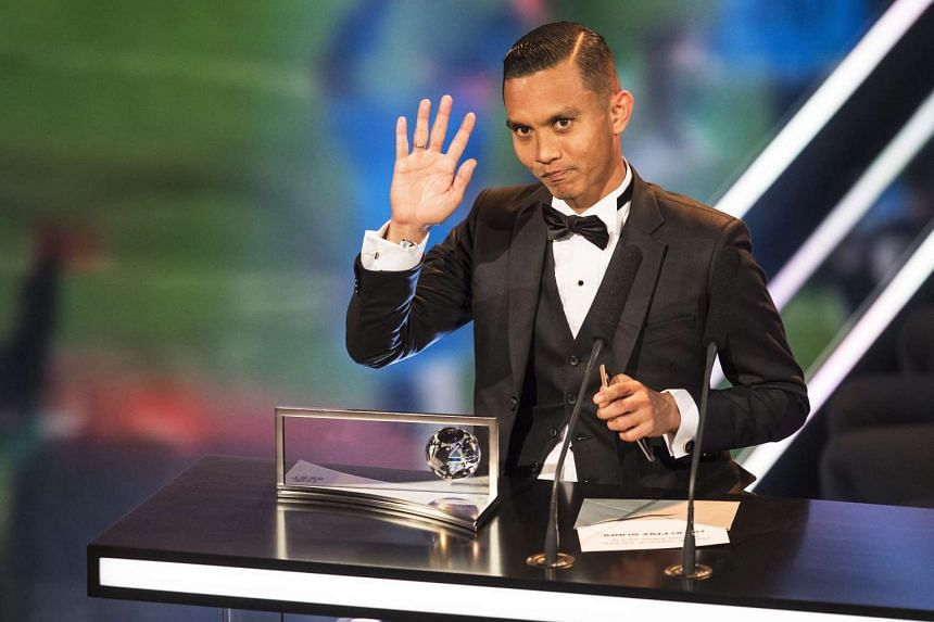 Mohd Faiz Subri of Malaysian Super League side Penang won the goal of the year award for a 35m free kick in which the ball dipped and swung in a bewildering fashion to leave the goalkeeper stranded.
