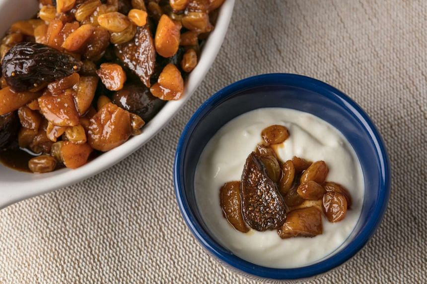 Chai-spiced fruit compote goes great with Greek yogurt and can be served warm or at room temperature. It keeps well in the fridge for a week.