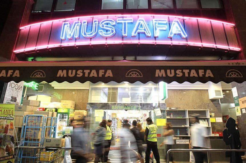 One of the entrances to Mustafa Centre department store, a popular shopping haunt in Little India that is open 24-hours everyday.