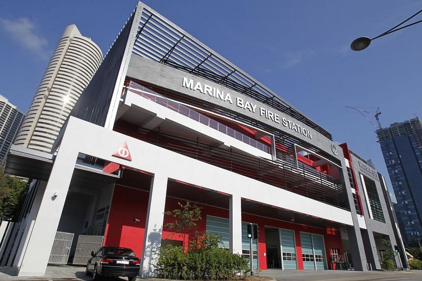 The Singapore Civil Defence Force's (SCDF) 18th fire station - Marina Bay Fire Station.