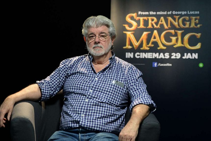 American film director George Lucas, at a press conference in Singapore, to promote his movie, Strange Magic.