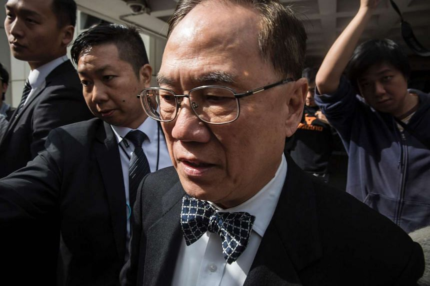 Donald Tsang at the High Court during the first day of his corruption trial in Hong Kong on Jan 3, 2017. Tsang is the highest-ranking Hong Kong official to be taken to court for graft.
