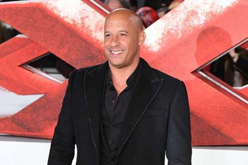 US actor Vin Diesel at the European Premiere of the film xXx: Return Of Xander Cage in London on Jan 10, 2017.