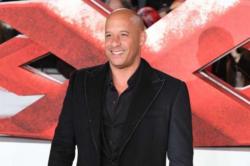 US actor Vin Diesel at the European Premiere of the film xXx: Return Of Xander Cage in London on Jan 10, 2017.