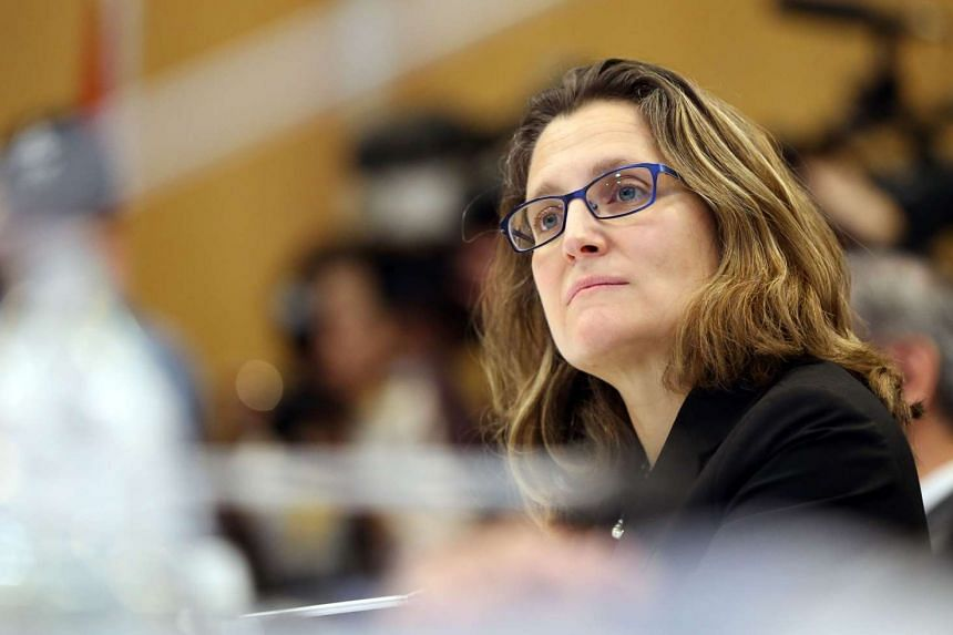 This file photo taken on Feb 3, 2016 shows Chrystia Freeland the Minister of International Trade from Canada in Auckland.