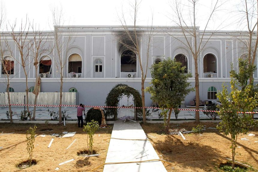 A view of Kandahar governor guest house building where a bomb blast killed mainly government officials or diplomats from the United Arab Emirates, in Kandahar, Afghanistan on Jan 11, 2017.