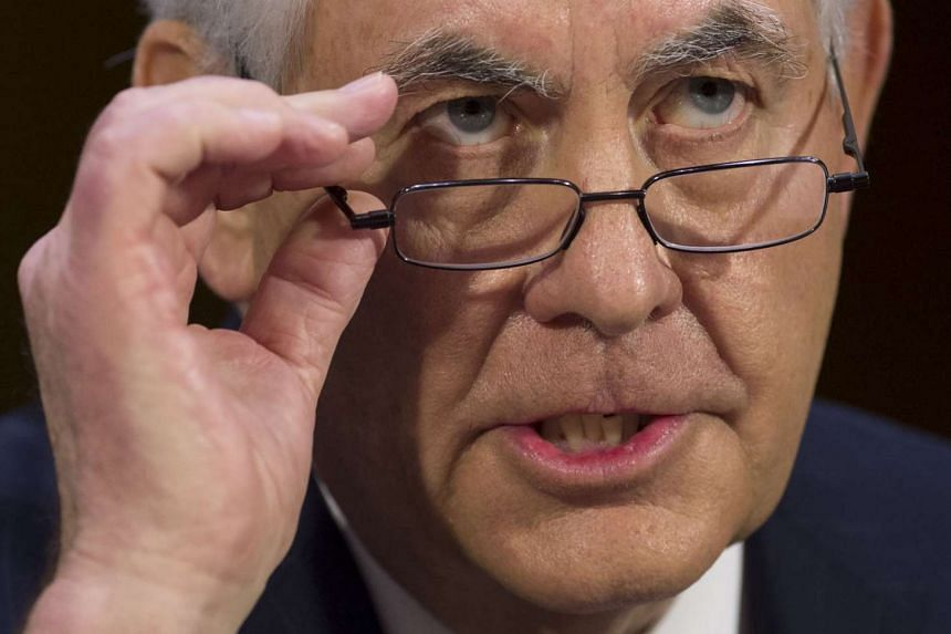 Former ExxonMobil executive Rex Tillerson testifies during his confirmation hearing for Secretary of State, Jan 11, 2017.