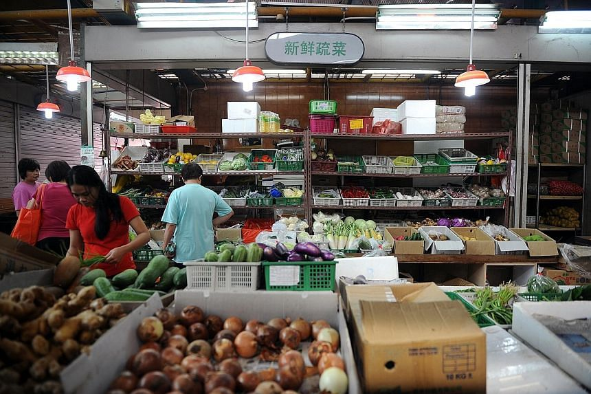 Wet market stallholders are currently required to display their prices as part of licence conditions.