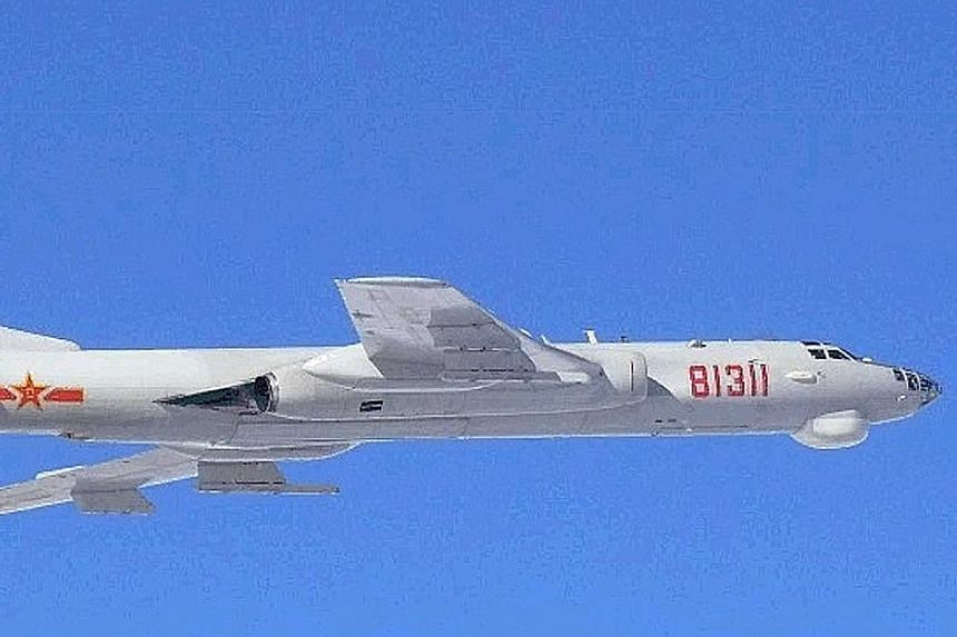 An H-6 bomber. The Chinese planes did not enter Japanese airspace but flew within South Korea's air defence identification zone, reported the South China Morning Post. China's state-run media blasted Japan for publicising the operation.