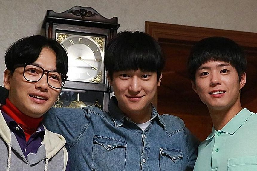 From far left: Lee Dong Hwi, Ko Kyung Pyo and Park Bo Gum.