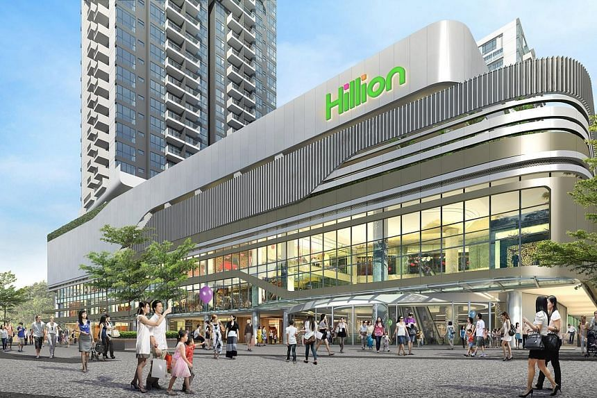 An artist's impression of Hillion Mall, which opens on Feb 24. It will offer residents a range of cuisines, from Japanese to Szechuan, and anchor brands like FairPrice, which will be open 24 hours, and foodcourt operator Kopitiam.