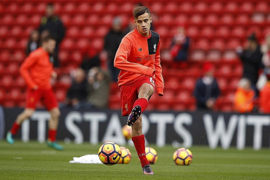 Liverpool playmaker Philippe Coutinho is set to return to action against Southampton today following seven weeks out with an ankle ligament injury.