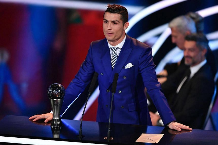 Real Madrid and Portugal's forward Cristiano Ronaldo stands next to his trophy after winning the The Best Fifa Men's Player of 2016 Award during The Best Fifa Football Awards ceremony, on Jan 9, 2017 in Zurich.