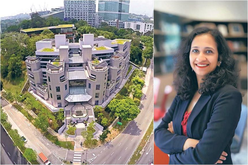 Essec's location in one-north gives students a unique opportunity to build their professional network. (Right) Associate Professor Aarti Ramaswami, Management Department & Academic Director of the Global MBA, Essec Business School.