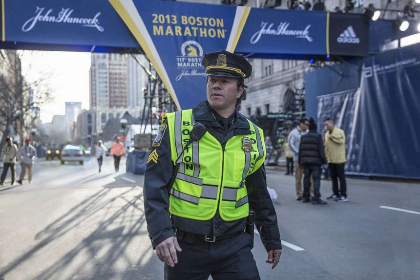 Patriots Day's Mark Wahlberg (above) sees the film as a celebration of ordinary Bostonians' strength and bravery.