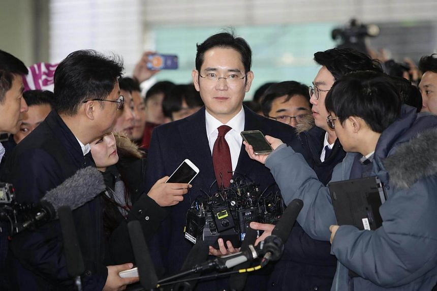 Samsung vice-chairman Lee Jae Yong arriving at the Independent Counel for questioning in Seoul, South Korea, on Jan 12, 2017.