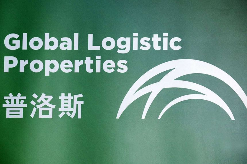 The logo of Global Logistic Properties Ltd. is displayed during the company's listing ceremony at the Singapore Exchange, in Singapore, on Oct 18, 2010.