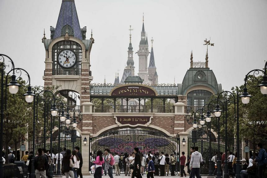 A thrill ride at Shanghai Disneyland broke down on Tuesday (Jan 10), leaving riders hanging in mid-air for half an hour.