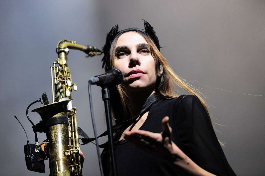 British singer PJ Harvey performs on the stage during the BIME Live 2016 festival in the Spanish Basque city of Barakaldo on Oct 28, 2016.