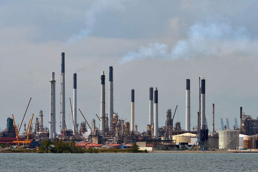 File photo of the Shell refinery on Pulau Bukom.