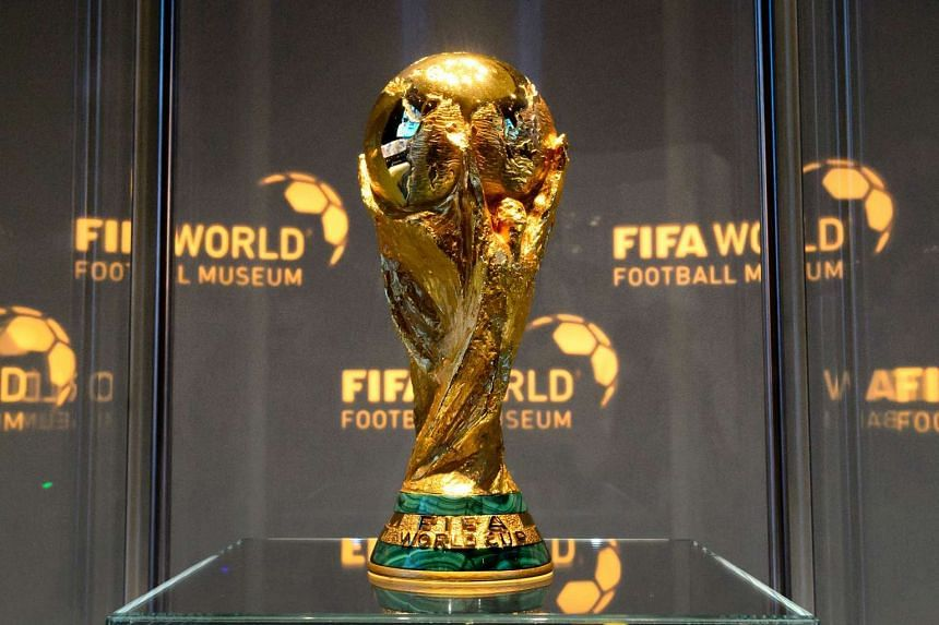 File photo of the World Cup trophy at the Fifa World Football Museum. The first 48-team World Cup may be jointly hosted by the US, Mexico and Canada.