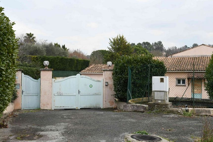 A villa in the village of Plascassier, near Grasse, where the 72-year-old suspect was arrested.