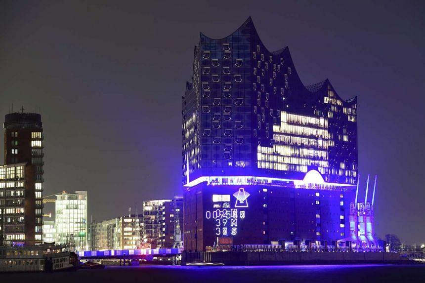 The new landmark, the Elbphilharmonie, along the Elbe river in Hamburg, northern Germany, on Jan 11, 2017.