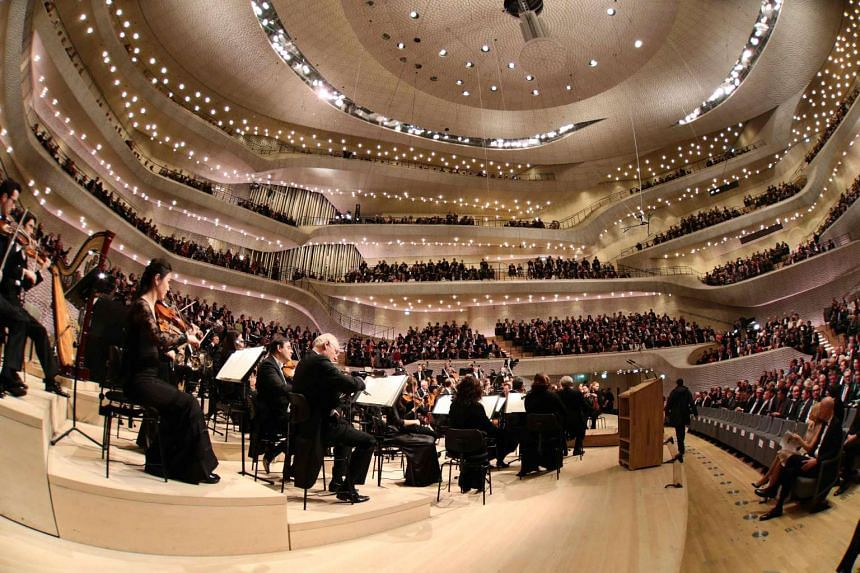 The opening concert of the Elbphilharmonie concert hall in Hamburg, northern Germany, on Jan 11, 2017.