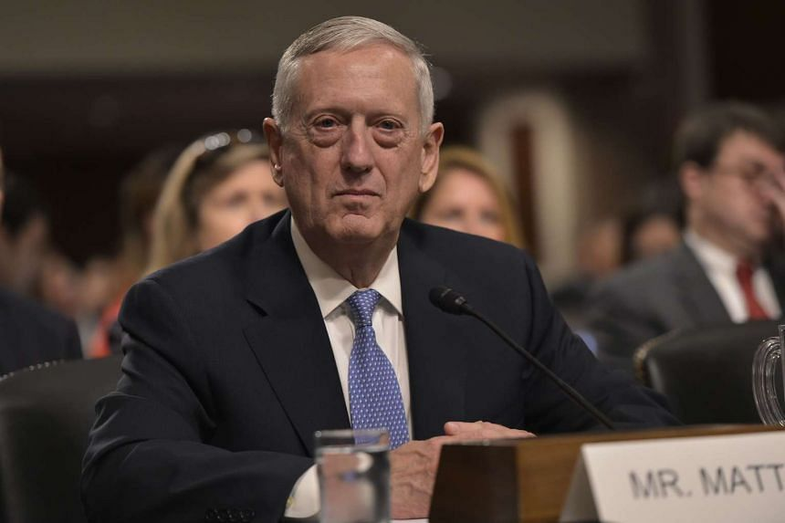 Retired Marine Corps general James Mattis testifies before the Senate Armed Services Committee on his nomination to be the next secretary of defense on Jan 12, 2017.