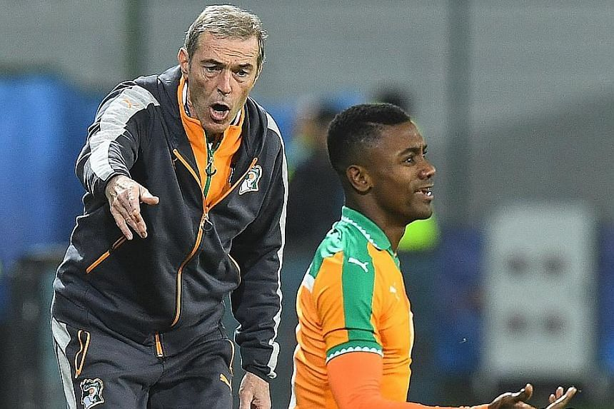Ivory Coast football coach Michel Dussuyer and veteran forward Salomon Kalou are bidding to retain their Africa Cup of Nations title.