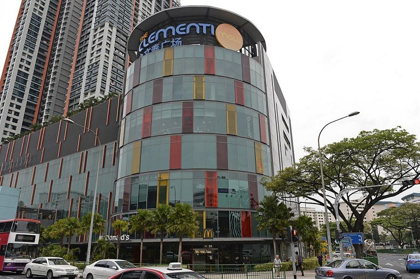 The Reit's success came on the back of full occupancy at both Clementi Mall (above) and Paragon (left). The manager said it plans to switch from full payment in units to partial payment in cash.