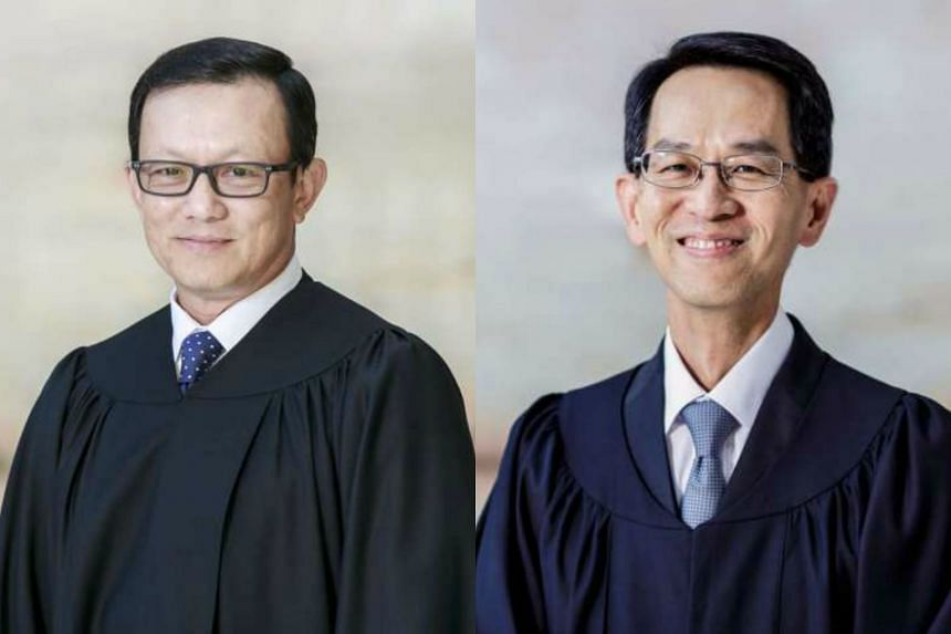 Judicial Commissioner Chua Lee Ming (left) and See Kee Oon have been appointed a High Court judges with effect from Jan 31.