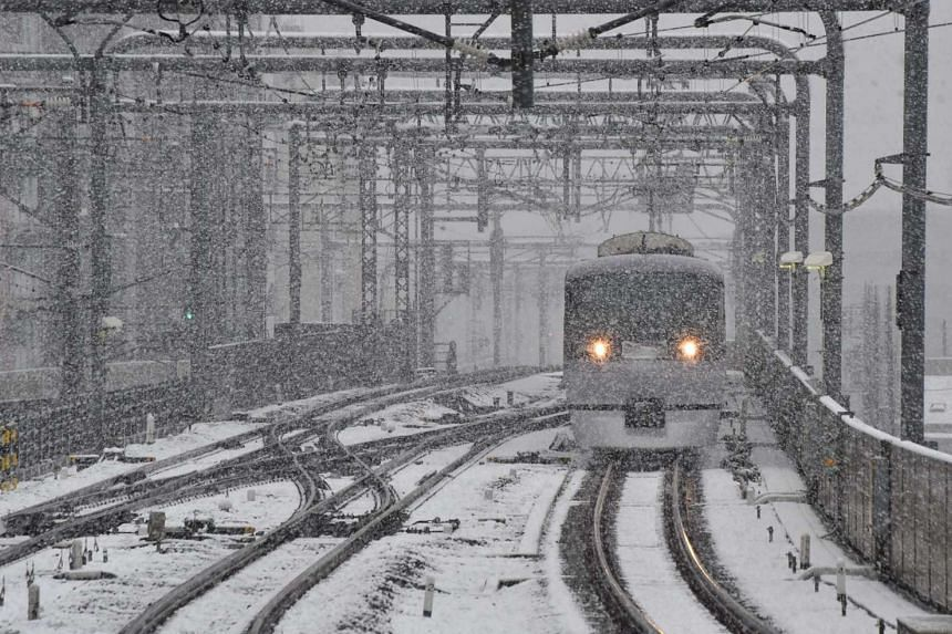 A winter storm dumped up to 2m of snow on northern Japan on Jan 13, 2017, including in Tokyo.