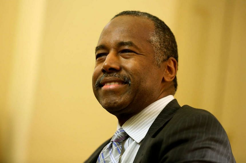 Ben Carson, President-elect Donald Trump's nominee to be secretary of housing and urban development, is seen at a meeting with US Senate Majority Leader Mitch McConnell in his office at the Capitol in Washington, US on Dec 7, 2016.