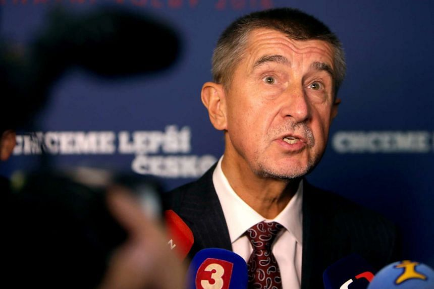 The leader of ANO party Andrej Babis answers questions from the media after the regional elections in Prague, Czech Republic,on Oct 8, 2016.