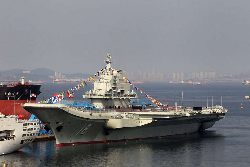 File photo of China's first aircraft carrier Liaoning. China is building a second aircraft carrier.