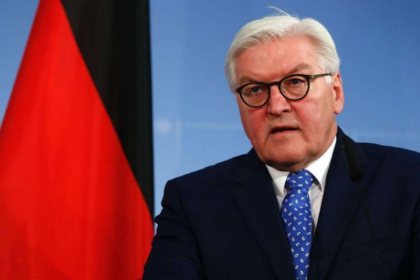 German Foreign Minister Frank-Walter Steinmeier attends a press conference after a meeting with his Egyptian counterpart on Jan 12, 2017 in Berlin.