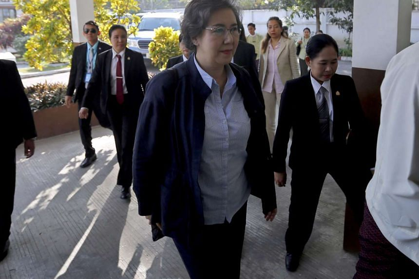 Lee Yanghee, the UN special rapporteur on the situation of human rights in Myanmar, seen in Yangon on Jan 13, 2017.