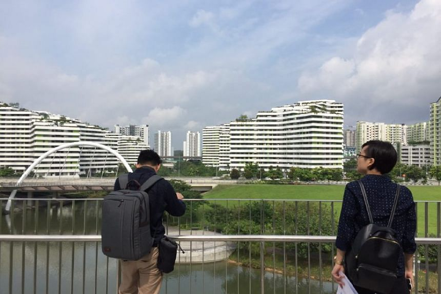 The view from the third storey of the Punggol Discovery Cube.