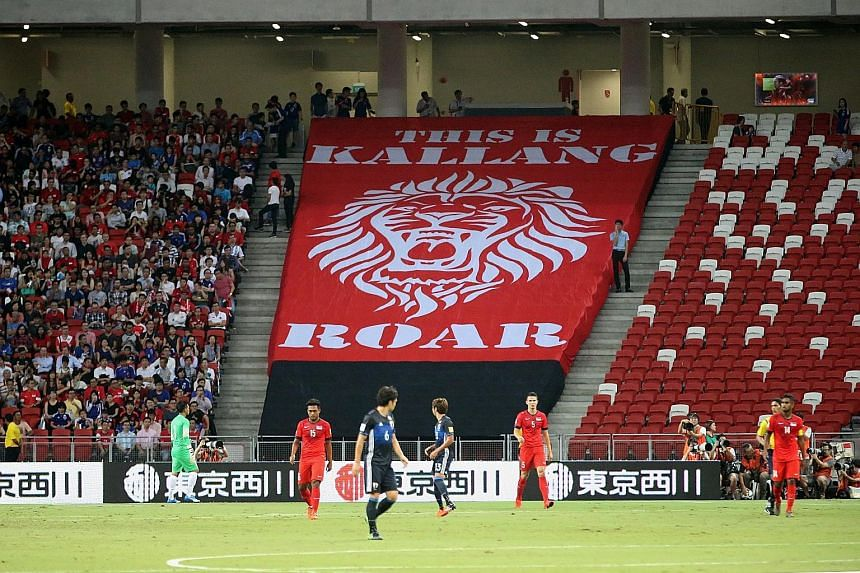 Over 33,000 fans turned up at the National Stadium to watch the Lions take on Japan in a World Cup qualifier last year. Singapore lost 3-0.