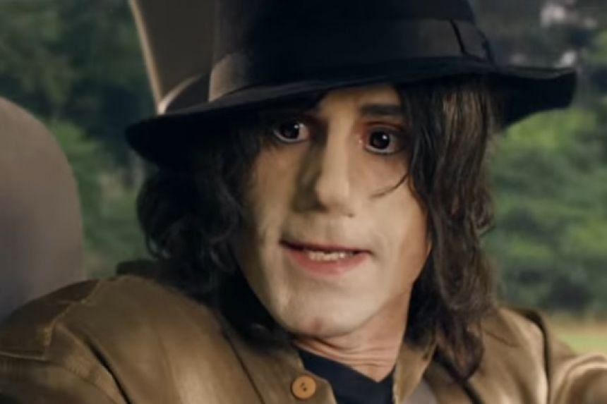 Joseph Fiennes as Michael Jackson in a screenshot from the Urban Myths trailer.