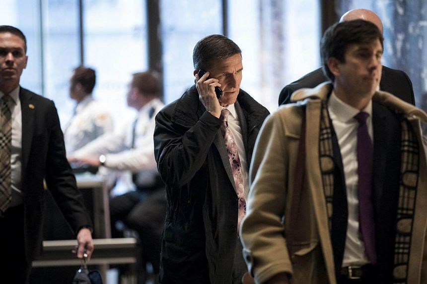 Michael Flynn, President-elect Donald Trump's choice for national security adviser, arriving at Trump Tower, on Jan 12, 2017.