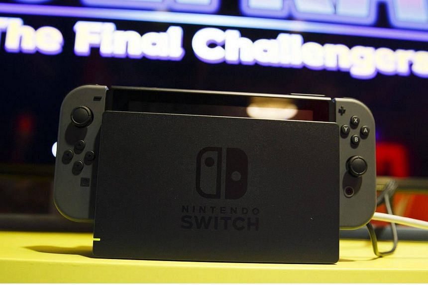 The new Nintendo Switch game console is displayed at a media preview event in New York, on Jan 13, 2017.